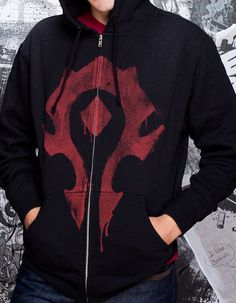 World of Warcraft Horde Spray Zip-up Hoodie J!NX : World of Warcraft Horde Spray Zip-up Hoodie - Clothing Inspired by Video Games & Geek Culture Warcraft Characters, Wow World, For The Horde, Geek Gear, Hoodie Outfit, Geek Culture, World Of Warcraft, Clothing Items, Zip Ups