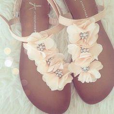 Floral sparkle sandals...https://poshmark.com/listing/Sandals-58769dce8f0fc40d65024378 #sandalssummer