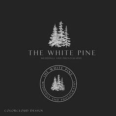forest logo design Premade logo pine tree logo minimalist logo