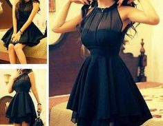 Mesh Front Cute Slim Dress For Wome..
