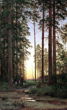 Pencil Drawing Ivan Shishkin I Edge of the Forest - Title: Ride in a Forest. Artist: Ivan Shishkin , Oil painting reproduction hand painted on canvas Russian Landscape, Landscape Art, Landscape Paintings, Russian Painting, Russian Art, Cottage In The Woods, Tree Forest, Forest Camp, Oil Painting Reproductions