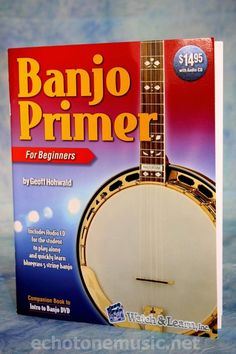 Banjo Primer 5 string Banjo instruction Lesson Book, How to play Banjo w/CD