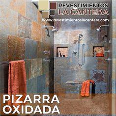 ¿Qué te parece éste baño de #PizarraOxidada? Multicolor y natural, la pizarra oxidada es una piedra única y exótica con tonalidades bronce, perfecta para fachadas o interiores. . . ☎ Valencia: 0241-8322888 ☎ Guarenas: 0212-3610749 ☎ Barquisimeto: 0251-2691397 #cuarzo #slate #baños #interiordesign #bañosmodernos #ceramica #porcelanato #valencia #coro #marmol #revestimientos #hotel #pisos #arquitectura #lecherias #maracay #venezuela #cocinas #baldosashidraulicas #fachada #caracas…