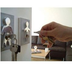 This is one way to keep up with your keys!