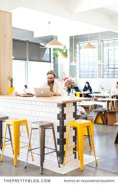 Great working space | Yellow, white & grey interior | Photo: @Amanda Drost