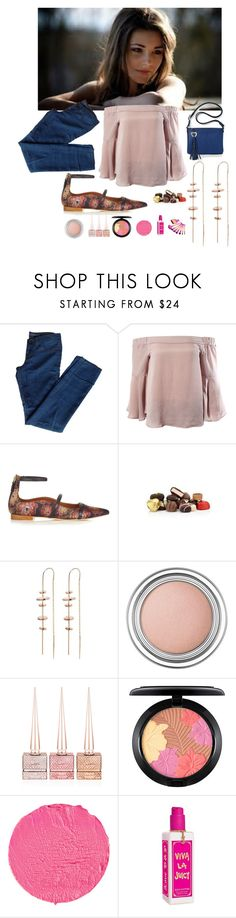 """""""Fun Date In Olde Town"""" by michelle858 ❤ liked on Polyvore featuring J Brand, Sans Souci, Malone Souliers, Harrods, TILDA BIEHN, Christian Dior, Christian Louboutin, MAC Cosmetics, Givenchy and Juicy Couture"""