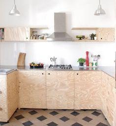 diy- Küche DIY kitchen, tags old building + plywood + DIY + award kitchen Plywood Interior, Plywood Furniture, Kitchen Furniture, Kitchen Interior, Diy Furniture, Küchen Design, House Design, Interior Design, Design Ideas
