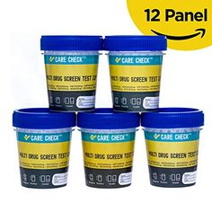 Care Check Sterile 12 Panel Multi Drug Screen Test Urine Sample Collection Cups, 5 Pack Individually Wrapped Cups:   Care Check Sterile Multi Drug Screen Test Urine Sample Collection Cups, 5 Pack Individually Wrapped Cups. These multi drug screen tests are ideal for Home, School, College or Work Testing. It can be used by Law enforcement, criminal justice and substance abuse rehab centers. It is easy and mess free! Just urinate in the cup, seal it, peel off the label and read results a...