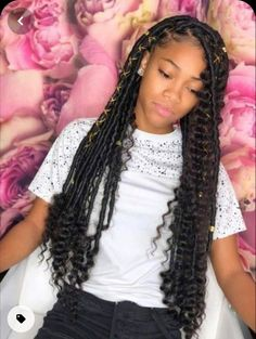 Box Braids Hairstyles, Black Girl Braided Hairstyles, My Hairstyle, Modern Hairstyles, Hairstyles For Black Women, Teenage Hairstyles, American Hairstyles, Protective Hairstyles, Hairstyle Ideas
