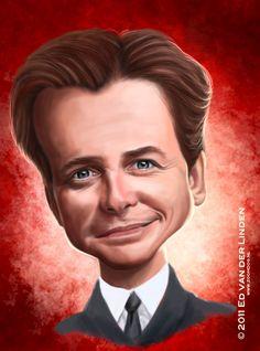 Michael J Fox by edvanderlinden on deviantART