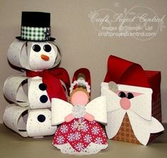 Gift Bow Christmas Creations! www.craftprojectcentral.com It's time to create all of those cute Christmas projects you need to make! Be sure to add these three projects to your list! All three are made using the Gift Bow Bigz L Die. The cute snowman makes a great decoration for any room, the angel ornament is perfect for any tree, and everyone would love to get a treat in this cute Santa box. These projects can be made quickly, so you can make them for all of your friends and family.