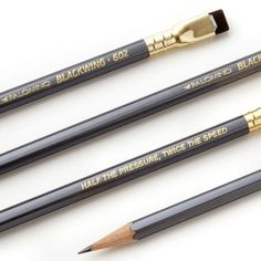 The Palomino Blackwing 602 - a tribute to the pencil beloved by legends like John Steinbeck, Stephen Sondheim and many more.