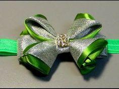 Lindo laço de fitas de gorgurao e cetim- D.I.Y. TUTORIAL,PAP- Satin ribbon bow - YouTube