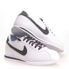 c632db61603 Nike Cortez Basic Leather Men s Athletic Shoes  White Gray 9 Cortez Shoes