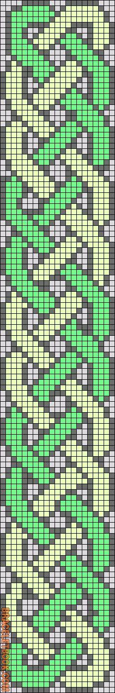 Alpha Friendship Bracelet Pattern #13579 - BraceletBook.com