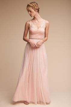 Samantha Dress from @BHLDN- thought the v neck and lace details looked kind of like yours in a complementary way?