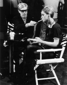 This is a wonderful photo of Andy Warhol and Edie Sedgwick. Edie has always been one of my main fashion influences. From her black tights, to her fur coats and chandelier earrings, I've adapted her style into my own attire for years.