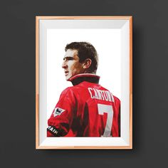 One of the most loved Manchester United players and legends of the game, Eric Cantona.