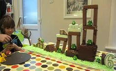 A playable angry birds cake for a 6 years old. Made by his dad. Planning to give it a try:-)