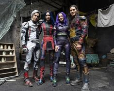 Booboo Stewart, Cameron Boyce, Dove Cameron, and Sofia Carson in Descendants 3 The Descendants, Descendants Characters, Descendants Videos, Descendants Pictures, Carlos Descendants, Cheyenne Jackson, Thomas Doherty, Disney Channel Movies, Sarah Jeffery