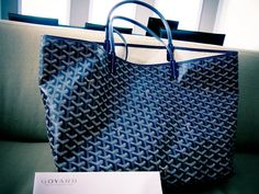 Goyard St. Louis Large PM Tote in Navy