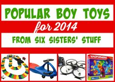 A great roundup of Popular Boy Toys for Christmas 2014 from Six Sisters For Boys Boys Toys For Christmas, Toys For Boys, Boy Toys, Kids Toys, Christmas Shopping, Christmas 2014, Christmas Ideas, Merry Christmas, Xmas
