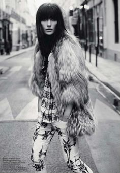 Vogue Russia: where penny lane gets back out of her '70s bed.
