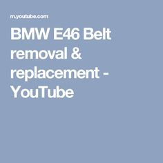17 best bmw 5 series images on pinterest bmw 5 series bmw parts bmw e46 belt removal replacement youtube fandeluxe Images