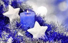 Christmas Candle desktop PC and Mac wallpaper Christmas Candles, Blue Christmas, Christmas Wishes, Christmas Themes, Vintage Christmas, Christmas Decorations, Merry Christmas, Christmas Background, Christmas Wallpaper