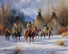Native American Western Art Paintings | Native American Art by Martin Grelle - Desktop Wallpaper