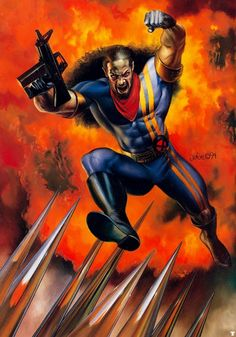 """By Julie Bell. Bishop  Publisher: Marvel Comics First appearance Uncanny X-Men #282 (November 1991) Created by John Byrne, Jim Lee, Whilce Portacio In-story information Alter ego Lucas """"Luke"""" Bishop Species: Human Mutant Team affiliations: X-Men, O*N*E, Xavier's Security Enforcers, Interpol, The Twelve, X-Treme Sanctions, Executive, NYPD, X-Treme X-Men  Abilities: Energy absorption and redirection, Superhuman physical attributes Ability to instinctively know present location."""