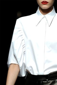 crispy white shirt