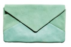 Turqouise Envelope Clutch