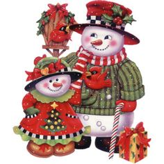 Great snowmen ideas ~ lantern ~ candy cane ~ Christmas gifts