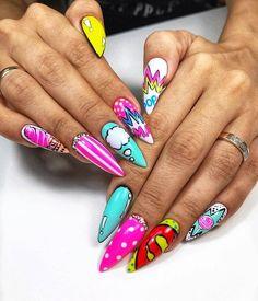 Edgy Nails, Bling Nails, Stylish Nails, Gold Nails, Swag Nails, Cute Nails, Manicure Nail Designs, Acrylic Nail Designs, Nail Art Designs