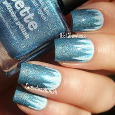 piCture pOlish 'Bette' = icicle nails by Coewless LOVE thanks Eva :) www.picturepolish.com.au