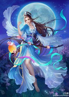 Pin by Dawn Washam🌹 on Simply Beautiful Fantasy/Asian Art 1 (With images) Anime Art Fantasy, Fantasy Artwork, Arte Final Fantasy, Elfen Fantasy, Beautiful Fantasy Art, Beautiful Fairies, Beautiful Moon, Beautiful Artwork, Fantasy Women