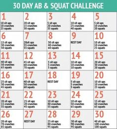 30 Day Abs and Squat Challenge - 30 Day Fitness Challenges http://www.itsthequickestwaytoloseweight.com