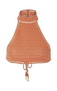 Savarna Crocheted Halter Bikini Top by SHE MADE ME Now Available on Moda Operandi