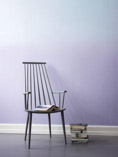 Degradado de pared color malva • Fargerike mauve gradient wall