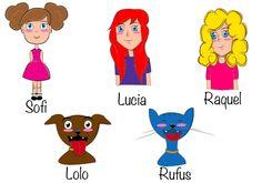 """Personajes creados para el cuento """"La familia de Sofi"""", un cuento para niños de familias homoparentales"""