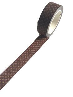 LV Inspired Washi Tape Brown Monogram
