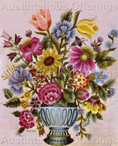 Checkout this amazing deal Rare Williams Original Merton Floral Bouquet Crewel Embroidery Kit,$264.99