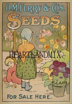 Vintage Seeds Arts and Crafts Digital Image by VintageDigitalShop2