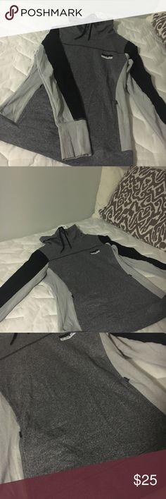 PINK ULTIMATE workout pullover Grey loose neck workout pullover, worn but good condition PINK Tops Sweatshirts & Hoodies