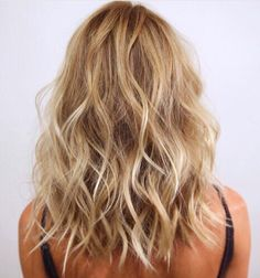 Medium length with Beach waves.