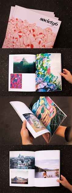 With thousands of artists uploading daily, we may not be able to fit everyone in, but we're thrilled to establish one more way to spotlight our talented members. Introducing the very first Society6 Art Quarterly! Featuring original artwork from 49 diverse Society6 artists printed in rich color across 130 pages.