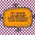 Common core posters that cover all standards for 8th grade Language Arts. All standards are color coded and printed on a polka dot background. Just...