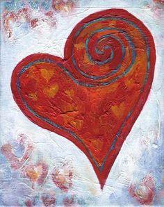 The Creative Heart I Love Heart, Happy Heart, Heart Painting, Heart Images, Felt Hearts, Wet Felting, Heart Art, Painted Rocks, Art Projects
