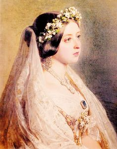 Miss Honoria Glossop: Queen Victoria on her wedding day Queen Victoria Prince Albert, Victoria And Albert, Royal Brides, Royal Weddings, Women In History, British History, Old Fashioned Wedding, People Of Interest, Queen Of England